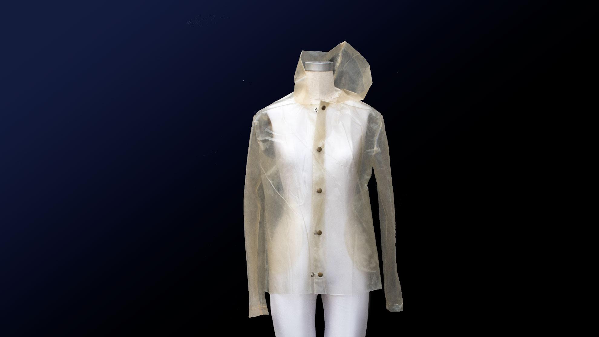 Carbon Negative Algae Plastic Raincoat